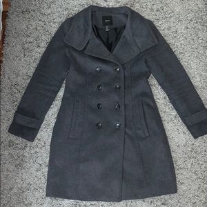 Charcoal Grey Wool Peacoat